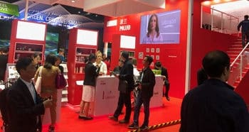 Seboradin na targach China International Import Expo w Szanghaju.